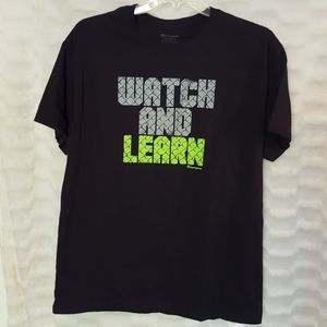 Men's Champion watch and learn graphic t-shirt